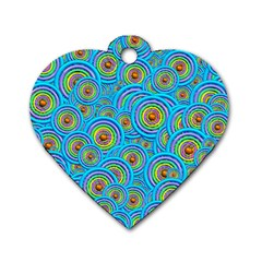Digital Art Circle About Colorful Dog Tag Heart (two Sides)