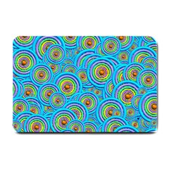 Digital Art Circle About Colorful Small Doormat