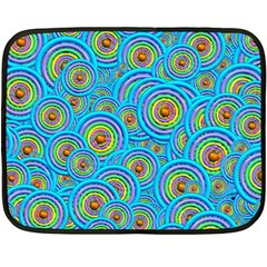 Digital Art Circle About Colorful Fleece Blanket (Mini)