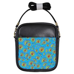 Digital Art Circle About Colorful Girls Sling Bags