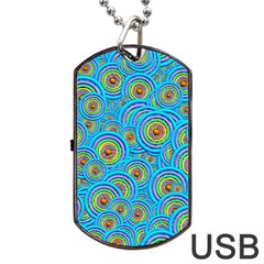 Digital Art Circle About Colorful Dog Tag USB Flash (One Side)