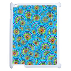 Digital Art Circle About Colorful Apple Ipad 2 Case (white)