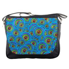 Digital Art Circle About Colorful Messenger Bags