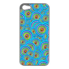 Digital Art Circle About Colorful Apple iPhone 5 Case (Silver)