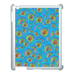 Digital Art Circle About Colorful Apple iPad 3/4 Case (White)