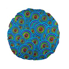 Digital Art Circle About Colorful Standard 15  Premium Round Cushions