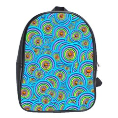 Digital Art Circle About Colorful School Bags (xl)