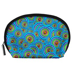 Digital Art Circle About Colorful Accessory Pouches (large)