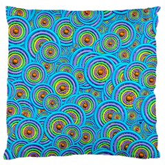 Digital Art Circle About Colorful Large Flano Cushion Case (one Side)