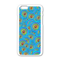 Digital Art Circle About Colorful Apple Iphone 6/6s White Enamel Case