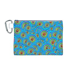 Digital Art Circle About Colorful Canvas Cosmetic Bag (M)