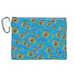 Digital Art Circle About Colorful Canvas Cosmetic Bag (xl)
