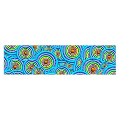 Digital Art Circle About Colorful Satin Scarf (Oblong)