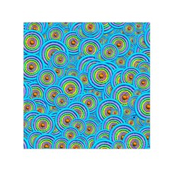 Digital Art Circle About Colorful Small Satin Scarf (Square)