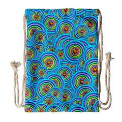 Digital Art Circle About Colorful Drawstring Bag (large)