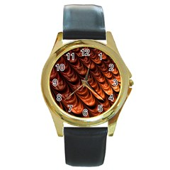 Fractal Mathematics Frax Round Gold Metal Watch