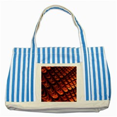 Fractal Mathematics Frax Striped Blue Tote Bag