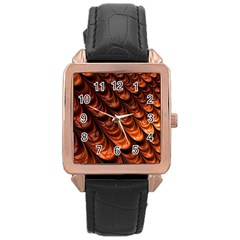 Fractal Mathematics Frax Rose Gold Leather Watch