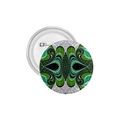 Fractal Art Green Pattern Design 1.75  Buttons