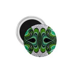 Fractal Art Green Pattern Design 1.75  Magnets