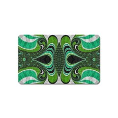Fractal Art Green Pattern Design Magnet (name Card)