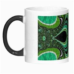 Fractal Art Green Pattern Design Morph Mugs