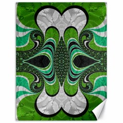 Fractal Art Green Pattern Design Canvas 18  x 24
