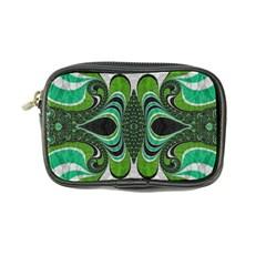 Fractal Art Green Pattern Design Coin Purse