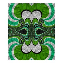 Fractal Art Green Pattern Design Shower Curtain 60  X 72  (medium)