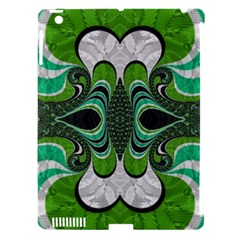 Fractal Art Green Pattern Design Apple Ipad 3/4 Hardshell Case (compatible With Smart Cover)