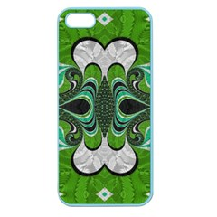 Fractal Art Green Pattern Design Apple Seamless Iphone 5 Case (color)