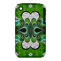 Fractal Art Green Pattern Design iPhone 3S/3GS