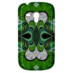 Fractal Art Green Pattern Design Galaxy S3 Mini