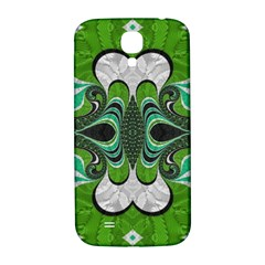 Fractal Art Green Pattern Design Samsung Galaxy S4 I9500/i9505  Hardshell Back Case