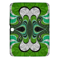 Fractal Art Green Pattern Design Samsung Galaxy Tab 3 (10 1 ) P5200 Hardshell Case