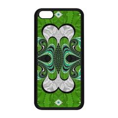 Fractal Art Green Pattern Design Apple iPhone 5C Seamless Case (Black)