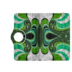 Fractal Art Green Pattern Design Kindle Fire Hdx 8 9  Flip 360 Case