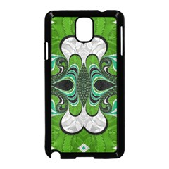 Fractal Art Green Pattern Design Samsung Galaxy Note 3 Neo Hardshell Case (black)