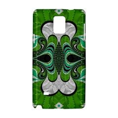 Fractal Art Green Pattern Design Samsung Galaxy Note 4 Hardshell Case