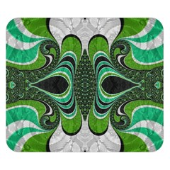Fractal Art Green Pattern Design Double Sided Flano Blanket (small)