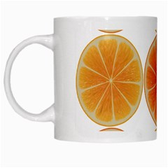 Orange Discs Orange Slices Fruit White Mugs
