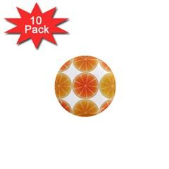 Orange Discs Orange Slices Fruit 1  Mini Magnet (10 Pack)