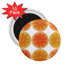 Orange Discs Orange Slices Fruit 2.25  Magnets (10 pack)