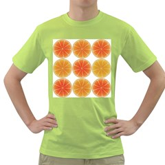 Orange Discs Orange Slices Fruit Green T-Shirt