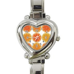 Orange Discs Orange Slices Fruit Heart Italian Charm Watch