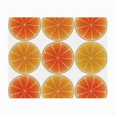 Orange Discs Orange Slices Fruit Small Glasses Cloth