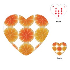 Orange Discs Orange Slices Fruit Playing Cards (Heart)