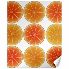 Orange Discs Orange Slices Fruit Canvas 16  X 20