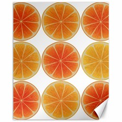 Orange Discs Orange Slices Fruit Canvas 11  X 14