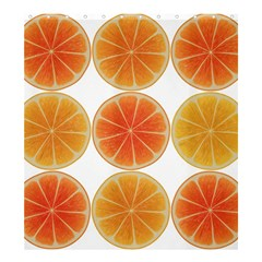 Orange Discs Orange Slices Fruit Shower Curtain 66  x 72  (Large)